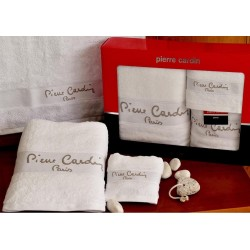 Pierre Cardin Σετ Πετσέτες Μονόχρωμες -Ιβουάρ- 3τμχ σε κουτί