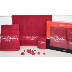 Pierre Cardin Σετ Πετσέτες Μονόχρωμες -Κόκκινο- 3τμχ σε κουτί