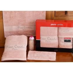 Pierre Cardin Σετ Πετσέτες Μονόχρωμες -Σομόν- 3τμχ σε κουτί